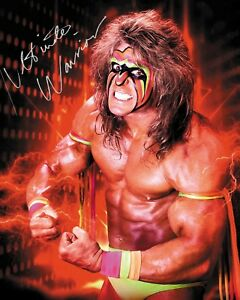 ULTIMATE WARRIOR #2 (WWE) - 10x8 PRE PRINTED LAB QUALITY PHOTO (SIGNED) (REPRINT