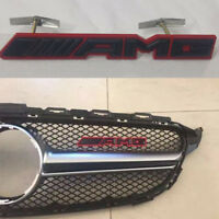 3D AMG Logo Matt Metal Front Hood Grille Grill Emblem Badge For Mercedes A C E S