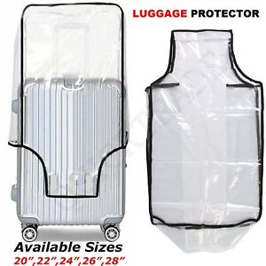 COVER LUGGAGE PROTECTOR SUITCASE TRAVEL BAG PVC TRANSPARENT ANTI SCRATCH DUST