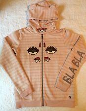 SCOTCH R'BELLE Scotch Soda Girls Pink Face Hoodie Sweatshirt Fleece Jacket 14/16