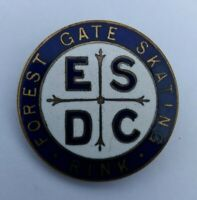 OLD ENAMEL BADGE 'FOREST GATE SKATING RINK' #2