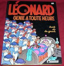 LEONARD 5 - GENIE A TOUTE HEURE - TURK ET DE GROOT - DARGAUD - Rééd 1983