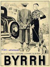PUBLICITE BYRRH PANNE DE VOITURE CHIEN FOX TERRIER SIGNE G. LEONNEC DE 1932 AD