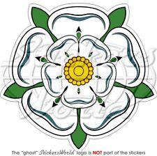 """WHITE ROSE of YORK Flower UK Yorkshire 100mm/4"""" Sticker"""