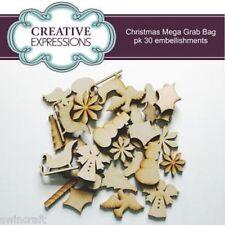 Creative Expressions MDF Forme NATALE PACCO SORPRESA 30 DECORAZIONE Contenuta