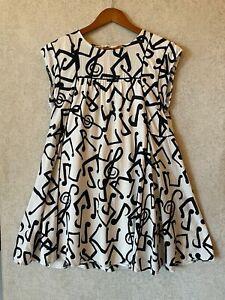 Gorman Monika forsberg ladies music note swing dress size 8