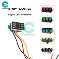 """0.28"""" DC 0-100V Digital LED Display Voltmeter 3-Wires Voltage Panel Volt Meter"""