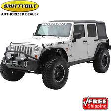 SMITTYBILT 76837 XRC Fender Flares Front Rear for 07-17 Jeep Wrangler JK 2 4 dr