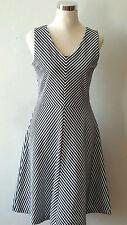 Talbots  Flare Striped  Dress Size Medium  P  8-10 New