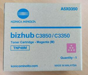 New Genuine Konica Minolta Bizhub Toner Magenta C3850/C3350 A5X0350