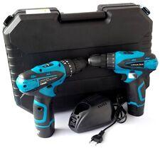 2 trapani trapano avvitatore a batteria 18V Cordless ricaricabile + valigetta