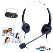 T601 Call Center Customer Service Headset Earpiece Mic Light Handsfree for Skype