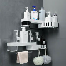 Home Plastic Suction Cup Bathroom Kitchen Storage Rack Organizer Shower Shelf SL