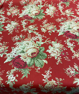 Sanctuary Rose Crimson Red Pk Lifestyles Fabric By the Yard