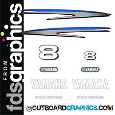 Yamaha 8hp 4 stroke outboard engine decals/sticker kit - other outputs available