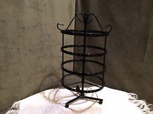 Carousel Earring Display Rack Countertop Black Enamel Spins