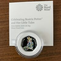 Jemima Puddle-Duck 2016 The Royal Mint UK 50p Silver Proof Coin with COA