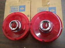 NOS 1965 Ford Galaxie Custom 500 Tail Light Lenses without Backup Lights Lamps