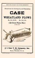 Case Wheatland Plows 113 10ft 114 8ft Operators Manual