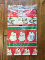 Vintage Cleo Christmas Wrapping Paper 50 SQ FT Total Santa