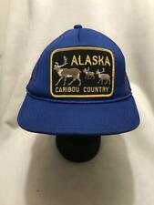 Vintage Alaska Caribou Country Patch Snapback Hat Cap