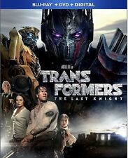 TRANSFORMERS THE LAST KNIGHT(BLU-RAY+DVD+DIGITAL HD)W/SLIP COVER BRAND NEW