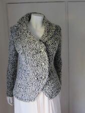 Per Una  Size 8 Italian Fabric Black/white Jacket Blazer Wool Blend M&S rrp £79