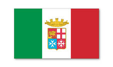 2 X naval Ensign-Bandera Italiana Auto Adhesivo Pegatinas Coche Furgoneta Camión Camión