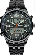 Homme Sport Bracelet analogique numérique en acier inoxydable Smart DEL Fashion watch