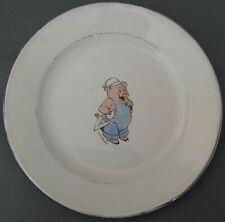 2777* assiette plate  walt disney porcelaine onnaing petit cochon ancienne