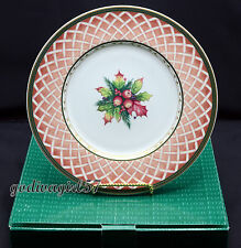 Fitz Floyd Rose Wreath Winter Holiday 4 SALAD PLATES Christmas, Classic Choices