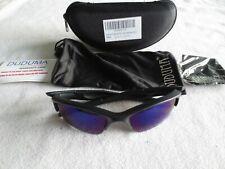 Duduma black frame polarized mirror sunglasses. New. With case.