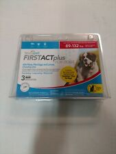 New TevraPet FirstAct Plus Flea and Tick Topical for Dogs 89-132 Pounds, 3 Count