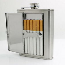 Unique Stainless Steel Wine Flagon Hip Flask Portable Flask With Cigarette Case