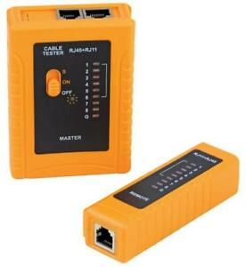 RJ11 and RJ45 Network Cable Tester with Ground Test - DURATOOL
