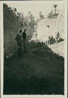 Algérie, Rue à Bou Saâda  Vintage silver print. Tirage argentique d'époqu