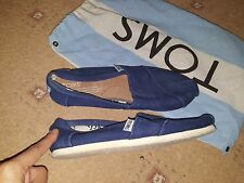 TOMS NAVY BLUE ESPADRILES FLATS SHOES WITH DUST BAGS SIZE 3