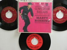 LOT OF 4 ' MARTY ROBBINS ' HIT 45's+1 EP/PS[Gunfighters Ballads] THE 50's&60's!