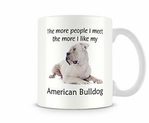 I Like My American Bulldog - Funny Dog Mug by Behind The Glass