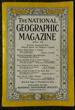 National Geographic magazine April 1956 No  Map, History Keeps House in Virginia