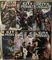 Lot Of 7 City of Heroes #4 7 8 10 12 2005 + City Of Villains 1 Image + More