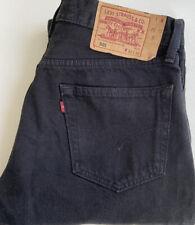 Mens 501 Black Levi Jeans Size 32W 32L