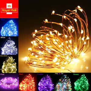 LED USB Micro Rice Wire Copper Rose Gold Wire Fairy String Lights Wedding Party