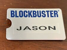 Vintage Blockbuster Video Name Tag, silver, great condition