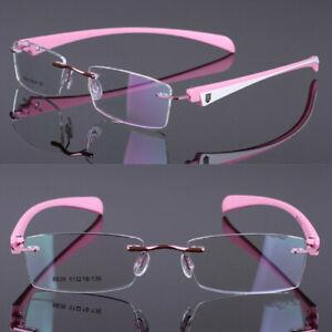 TR90 Rimless Eyeglass Frame Optical Women Sport Spectacles Eyewear 8826