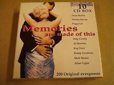 10-CD BOX / MEMORIES ARE MADE OF THIS ( DEAN MARTIN, SHIRLEY BASSEY... )