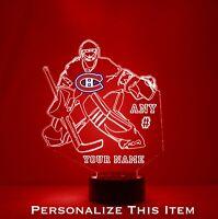 Montreal Canadiens Goalie - Personalized FREE - NHL Hockey Light Up LED Light