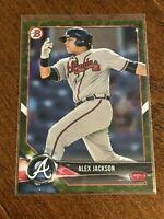 2018 Bowman Prospects Baseball Green Prospect - Alex Jackson - Atlanta Braves