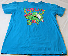 Boys Youth Hurley T shirt XL Premium Fit cotton 14354184 turquoise blue preowned