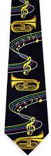 Time For Tubas Mens Necktie Music Tuba Musician Musical Instrument Neck Tie New